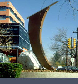 Artery Sunwork 1993 Granite, bronze and stainless, 16'h x8'w x6'd
